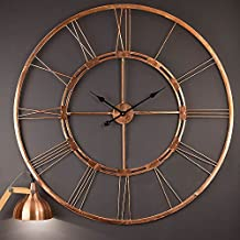 100% Copper Made Handmade Large Wall Clock Home Decor Hanging Wall Sculpture