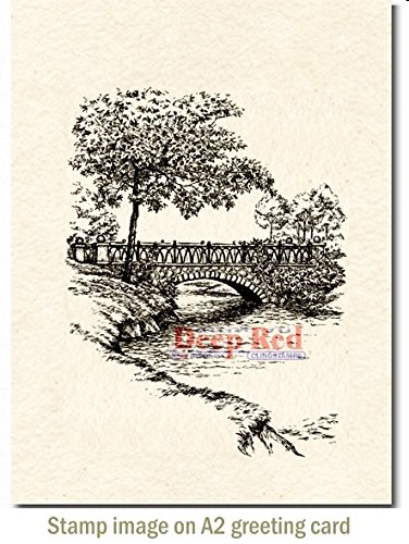 (Deep Red Stamps 4X605542 Cling Stamp, 3
