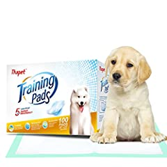 Description:Quantity: 100 count Size of each training pad: 22 x 23 inch(56 x 58cm) Weight of each training pad: 38g Package size: 15.2 x 11.02 x 7.08 inches Feature: Quilted for super absorbency, each Thxpet puppy pad consists 5 layers of mat...