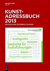 Kunstadressbuch Deutschland, Osterreich, Schweiz 2013 (German Edition) (Dec 20, 2012)