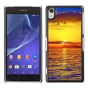 "For Sony Xperia Z2 , S-type Puesta de sol Mar Beautiful Nature 22"" - Arte & diseño plástico duro Fundas Cover Cubre Hard Case Cover"