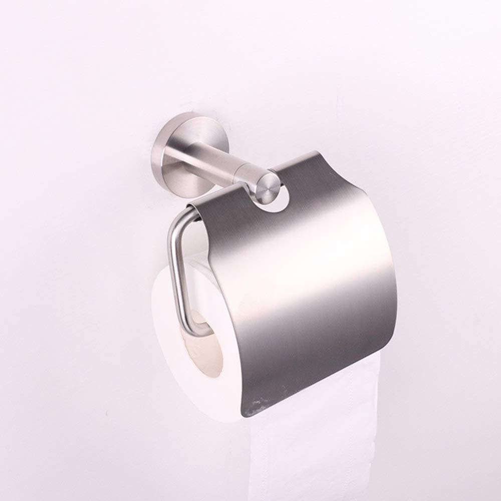 ETH Stainless Steel Pull Ribbon Cover Paper Towel Holder Size 150mm90mm150mm Roll Paper Holder Toilet Paper Holder Durable by ETH