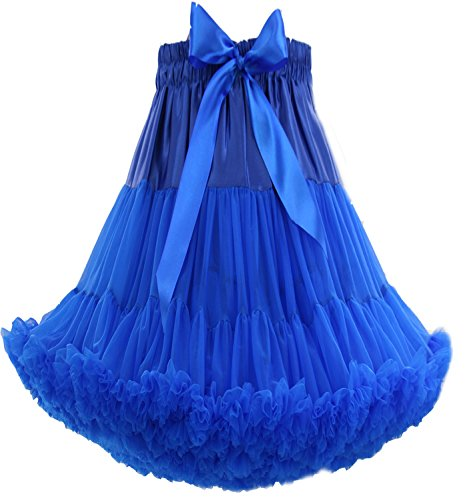 FOLOBE Adult Luxurious Soft Petticoat Women's Tutu Costume Ballet Dance Multi-Layer Puffy Skirt