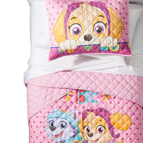 paw patrol girls twin quilt