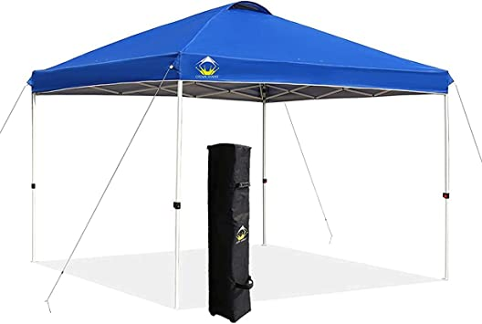 CROWN SHADES 10×10 Pop up Canopy Patented One Push Outside Canopy