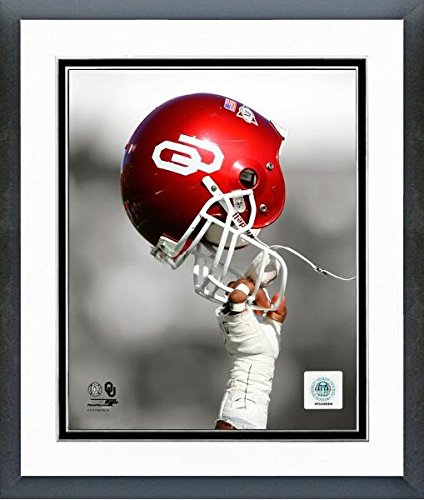 Oklahoma Sooners Spotlight Helmet Photo (Size: 12.5'' x 15.5'') Framed