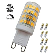 YUURTA G9 3W Dimmable LED Corn Light Bulb Lamp 3000K/4000K 110V-120V Bi-Pin Base 30W Halogen Equivalent Replacement Omnidirectional for Crystal Chandelier Sconce Ceiling Lighting Fixture cETLus Certified (8, 4000K)