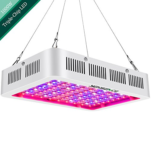 1000W LED Grow Light Full Spectrum,Yehsence (15W LED) 3 Chips LED Growing Light Fixtures with UV&IR for Indoor Plants Veg and Flower/Replace HPS Grow Light Fixture by Yehsence