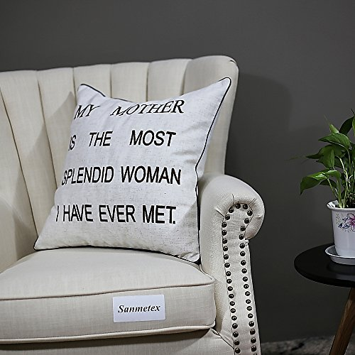 Sanmetex-Mothers-DayMothers-Brithday-Gifts-for-Mom-Throw-Pillow-Covers-Natural-Cotton-Linen-Pillow-Cover-Mother-In-Law-Gifts-For-20-X-20-Inch-Throw-Pillows-Best-MomFriend-Gifts-Color-Brown