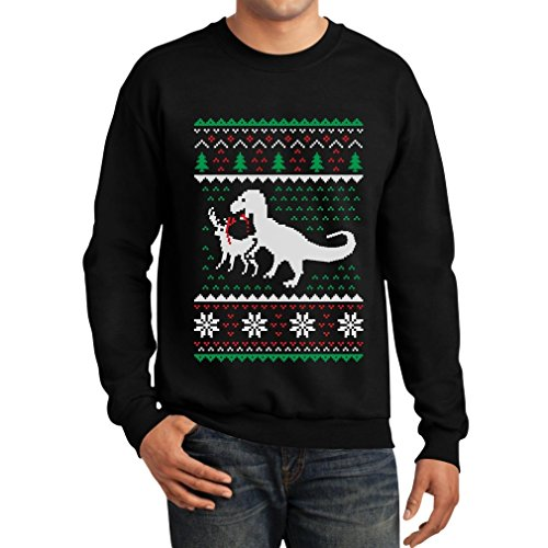 T Rex Ugly Christmas Sweater.Teestars Ugly Christmas Sweater T Rex Vs Reindeer Funny