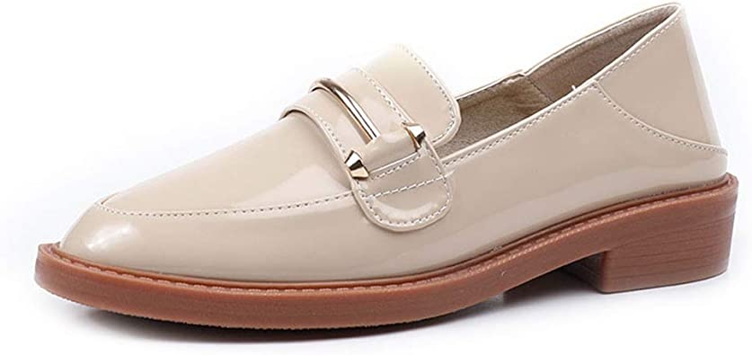 F-OXMY Women's Retro Penny Loafers Low