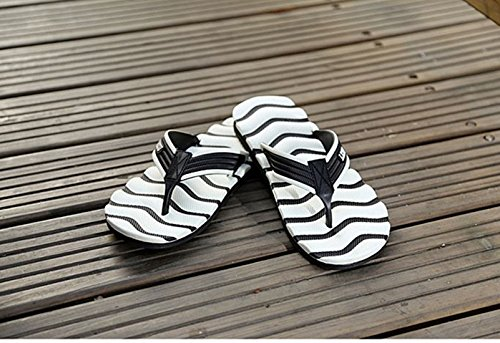 Beach UNN Anti Slip Flops Walking Outdoor Casual White Sandals Men's Flip f8Pqw1g