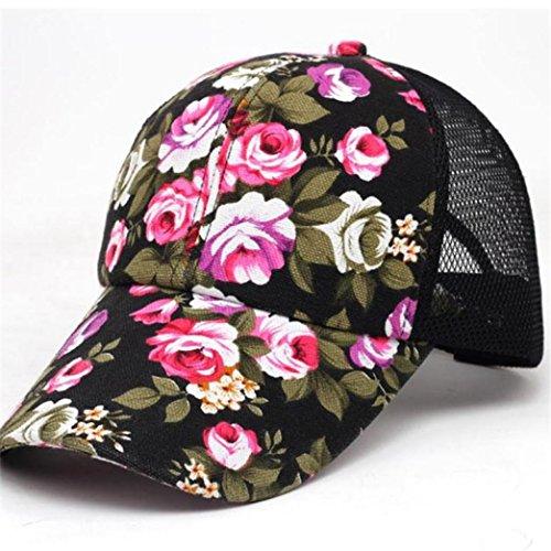 Gorras de Béisbol ❤️ LuckyGirls Unisex Floral Pintura Hip Hop Sombreros u971tP
