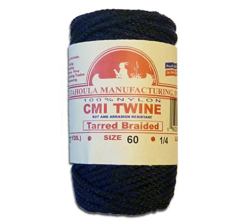 81' Catahoula Manufacturing #60 Tarred Braided Nylon Twine (Bank Line) 500 lb Tensile Strength ()
