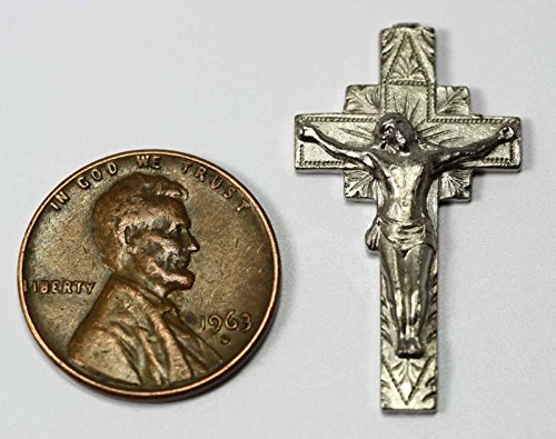Miniature 1:12 Scale Silver Crucifix by Multi Minis