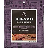 KRAVE Pork Jerky, Black Cherry Barbeque, 2.7 Ounce (Pack of 8)
