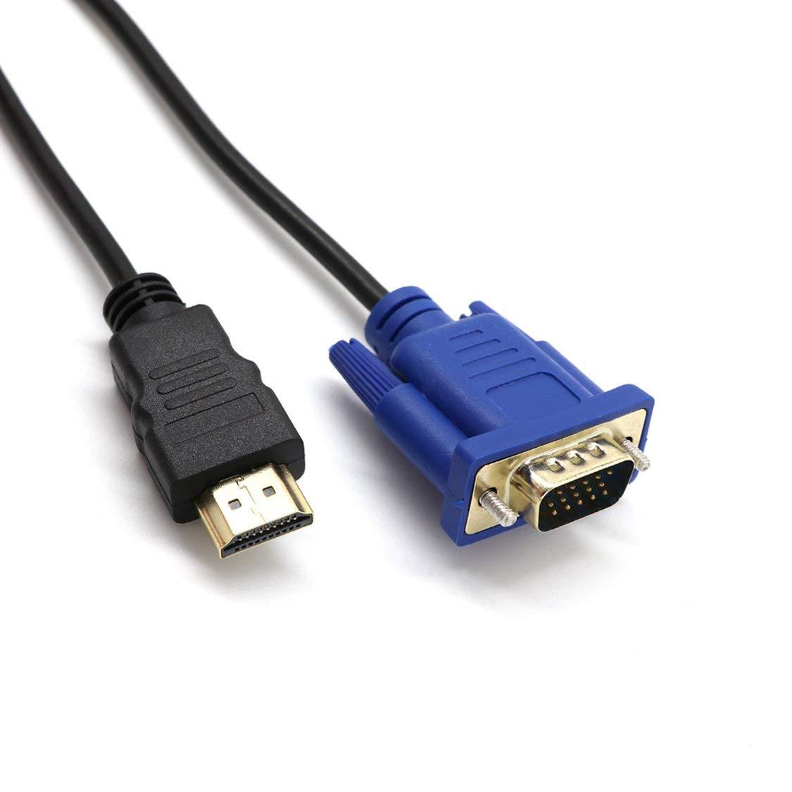 1M HDMI vers VGA m/âle c/âble vid/éo Adaptateur D-SUB pour Moniteur dordinateur HDTV