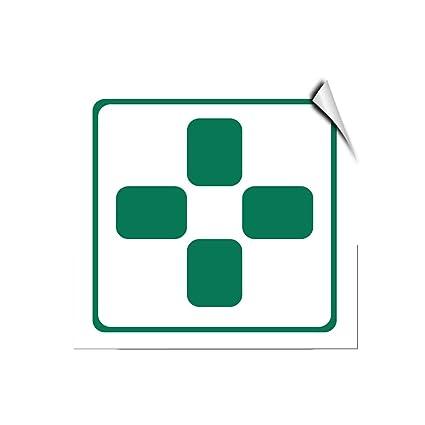 Amazon Green Cross Symbol Hazard Marijuana Dispensary Label