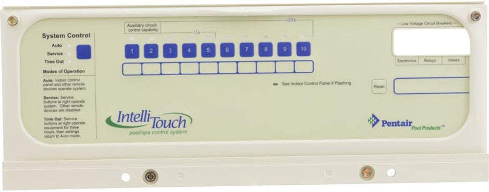additional 520138 Pentair Indoor Control Panel for IntelliTouch Systems White
