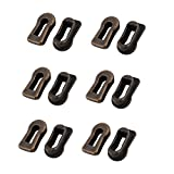 Antrader Metal Keyhole Cover Bronze Tone For Furniture Lock Decoration Pack of 12