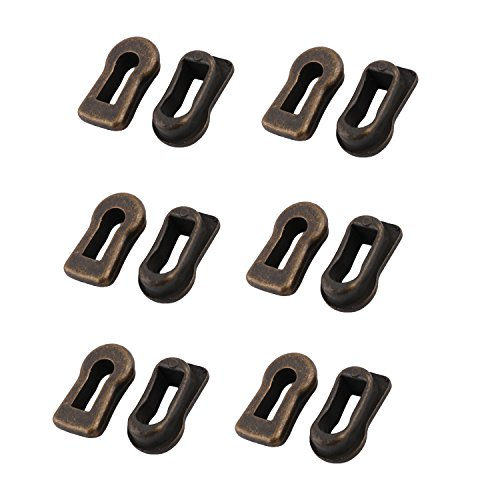 Antrader Metal Keyhole Cover Bronze Tone for Furniture Lock Decoration Pack of 12 ()