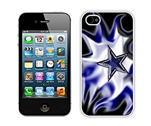 Beautiful And Unique Designed Case For iPhone 4S With Dallas Cowboys 14 White Phone Case