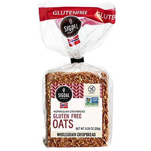 Sigdal Bakeri Gluten Free Oats Wholegrain Crispbread 8.29 oz Bags - Pack of 12 by Sigdal