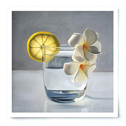 Lemon Plumeria Tonic - Oil Painting Giclée Print