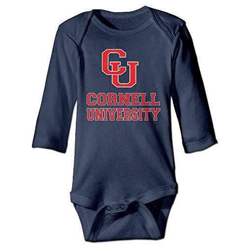 JJVAT Cornell University CU Logo Long-Sleeve Bodysuit For 6-24 Months Infant Size 6 M Navy