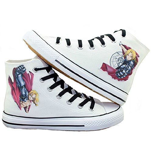 Fullmetal Alchemist Edward Elric Cosplay Shoes Canvas Shoes Sneakers