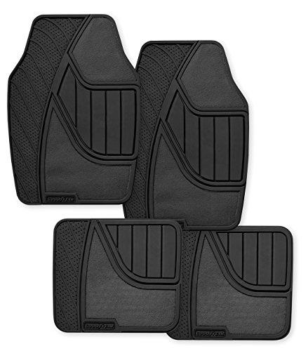 Goodyear GY5004 Black Universal Premium Rubber and Carpet Floor Mat Set - 4 Piece