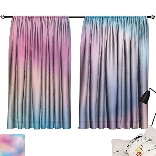 Davishouse Pastel Decor Curtains Abstract Blurry Colors Composition Sweet Daydream Fantasy Miscellaneous Home Garden Bedroom Outdoor Indoor Wall Decorations