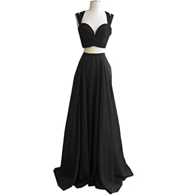 Spbridal Simple Long Black Formal Evening Gowns 2017 Prom Dress