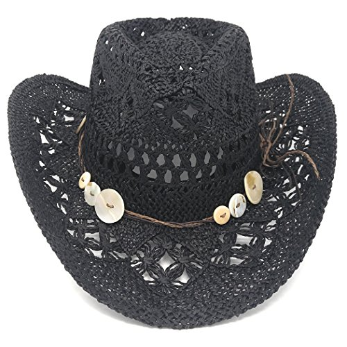 black-straw-cowboy-hat-w-shell-buttons-open-weave-w-shapeable-brim