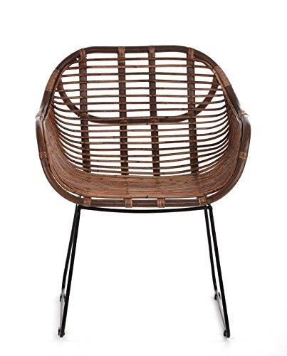 Animal Design Fauteuil Chaise de jardin en rotin – Salon de balcon ...