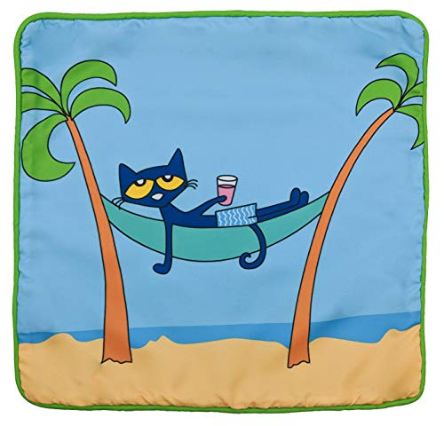 Jay Franco Pete The Cat Hammock Decorative Pillow Cover - Kids Super Soft 1-Pack Throw Pillow Cover - Measures 15 Inches x 15 Inches (Official Pete The Cat Product) -
