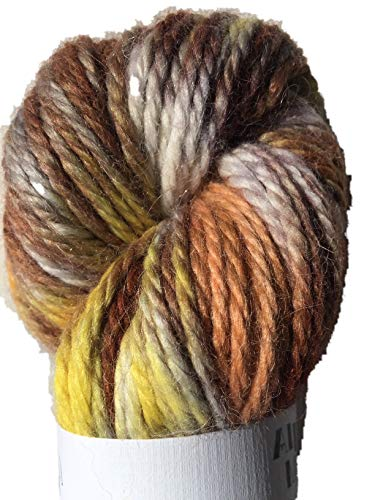 (Hand Dyed Baby Alpaca Yarn, Hand Painted: Yellow Brick Road, Heavy Worsted Weight, 100 Grams, 102 Yards, 100% Baby Alpaca)
