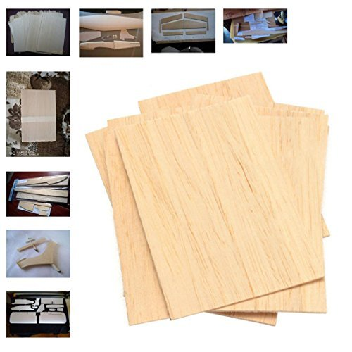Balsa Wood Plate Sheets Wooden for Airplane Boat DIY Model 150x100x2mm 10Pcs (Wooden Tools Boat)
