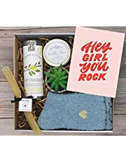 UnboxMe Care Package For Women   Feel Better Soon Get Well Soon Gift   Stress Relief Gift Self Care Encouragement Gift Nurse Gift Bff Gift, Cancer Gift Happy Birthday Gift (Hey Girl You Rock)
