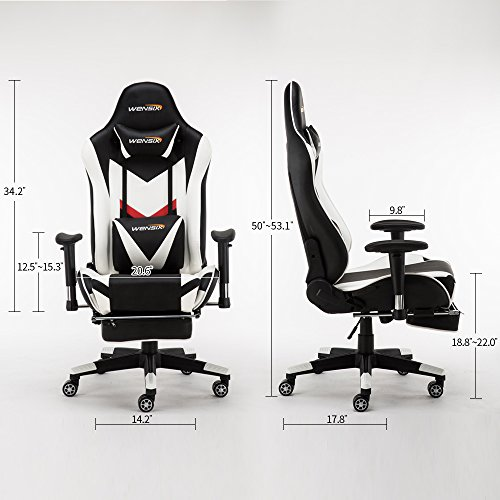 Wensix Ergonomic High Back Computer Gaming Chair For Pc