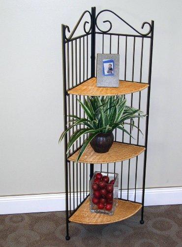 Review 4D Concepts 3-Tier Corner Bookcase, Wicker/ Metal By 4D Concepts by 4D Concepts