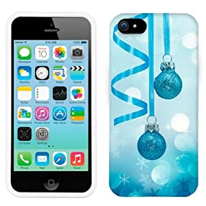 Apple iPhone 5 5s Christmas Glitter Blue Ornaments Phone Case Cover