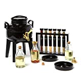 ''The Olive Oil Shoppe'' Olive Oil Fusti Dispenser Kit Gourmet DIY Infused Olive Oils with Dipping Plates, Garlic, Herbs, Spices & Accessories