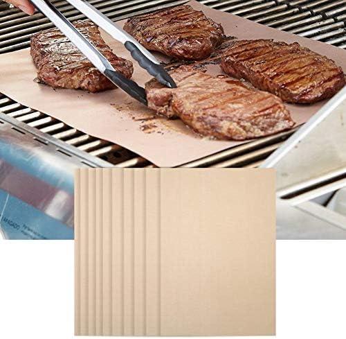 nologo 10 Pcs/Bag BBQ Mat, Tapis de Barbecue Anti-Graisse antiadhésif résistant aux Hautes températures