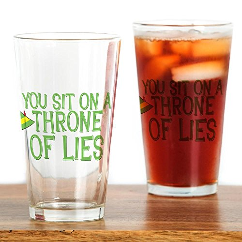 CafePress Throne Lies Drinking Glass