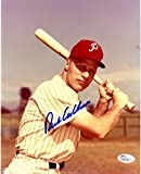 Richie Ashburn Signed 8x10 Veritcal with Bat Photo (JSA)