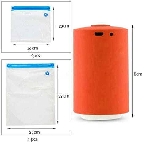 Mini Portable Automatic Compression Vacuum Sealer Pump Food Storage Space Saver