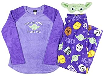 Star Wars Women's 3 Piece Plush Fleece Pajama Gift Set (M 8/10)
