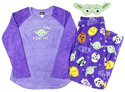 Star Wars Women's 3 Piece Plush Fleece Pajama Gift Set (2...