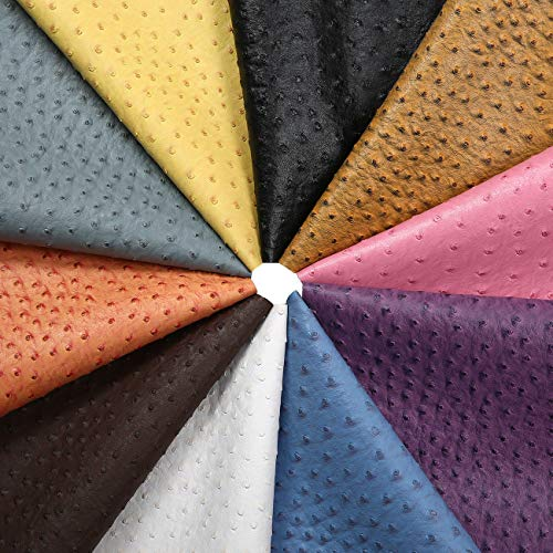 PU Ostrich Skin Texture Leatherette Fabric, Crafts Material, Semi Sheen Finish, Wipeable Water Repellent. Fat Quarters Squares or by The Meter. Home Décor, Accessories, Apparel & Upholstery
